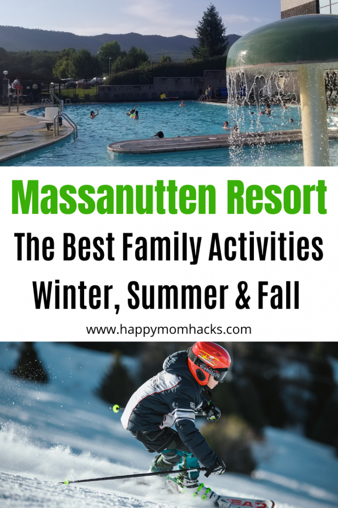 Winter & Summer at Massanutten Resort in Virginia all the tips you need for an awesome family vacation. Find out why it's a perfect family resort filled with unlimited activities all year long. Ski in the Winter and Waterpark and zip lining in the summer. #massanutten #Virginia #winter #summer #virginiavacation