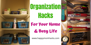 Easy Organization Hacks for Home & Your Busy life #organization #organizationhack #home