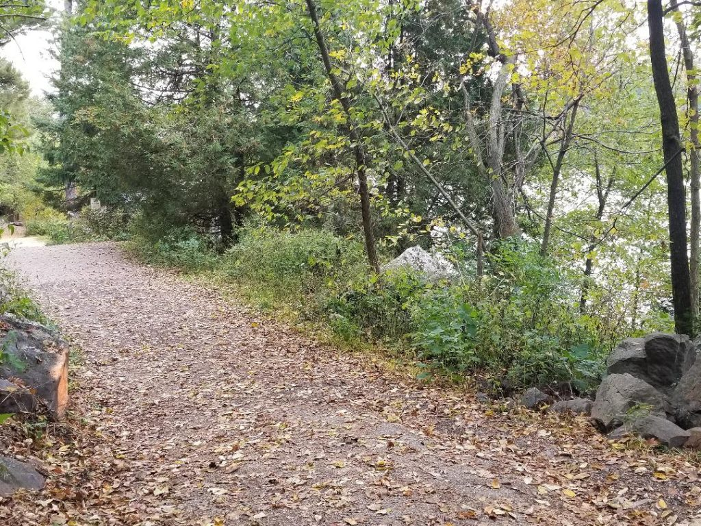 Tumble Rock Path Hike in Devils Lake WI
