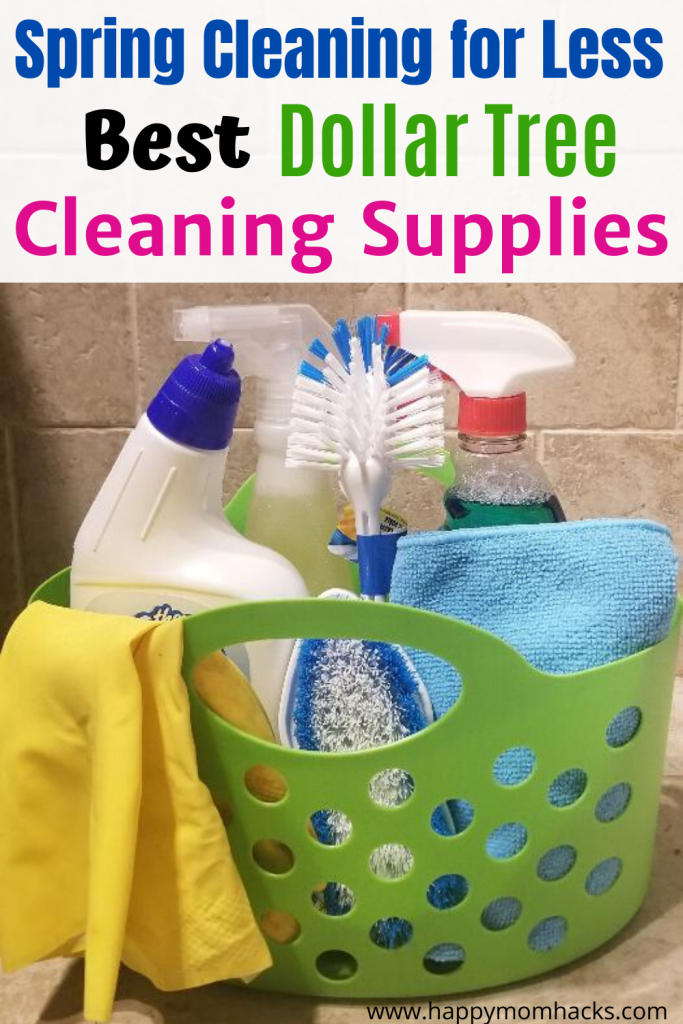 Best Spring Cleaning Supplies from Dollar Tree. Free Printable Checklist & tips to get you organized and ready to clean the whole house. #cleaningsupplies #dollartree #freeprintable #springcleaning #cleaningtips