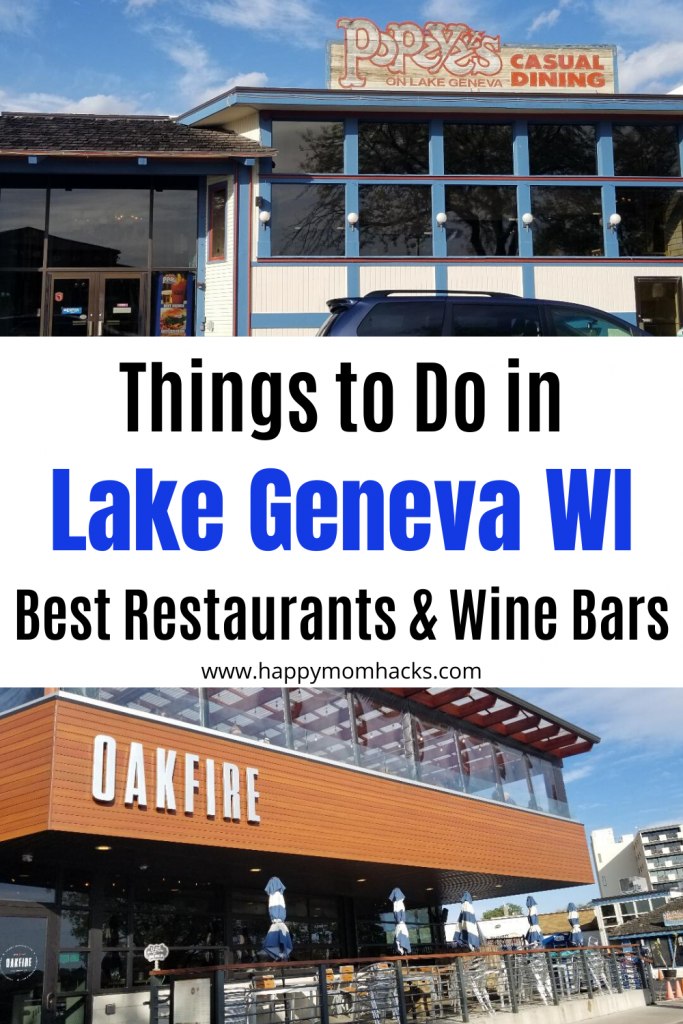 Things to Do in Lake Geneva WI and Best Restaurants for Kids and Adults. Fun wine bars and ice creams shops too. All the can't miss restaurants in Lake Geneva. #lakegenevawi #lakegeneva #restaurants #travelwithkids #midwest #wisconsin