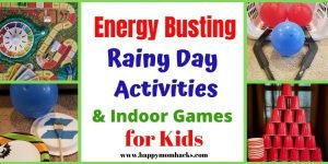 Fun Indoor Activities for Kids at Home. Find Boredom Busters for Summer, After School, Rainy Days or school closing due to Coronavirus. Quick and fun kids games you can easily put together and keep them entertained all afternoon. #kidsactivities #kidsgames #indoorgames #kids #activities