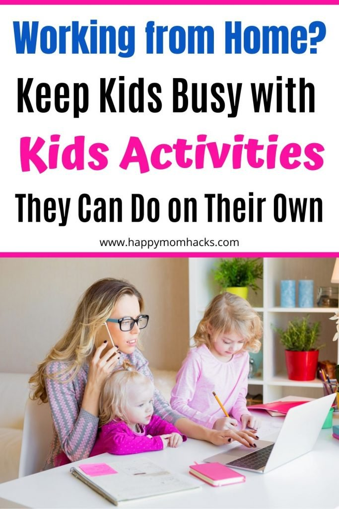 Fun Indoor & Outdoor Kids Activities at home. Ideas for an I'm Bored Jar kids can use to think of activities while you work. They will be having fun playing while you work from home. See if it works for you. #kidsactivities #activitiesforkids #workingmoms #boredjars #imboredjars #indooractivities #outdooractivities