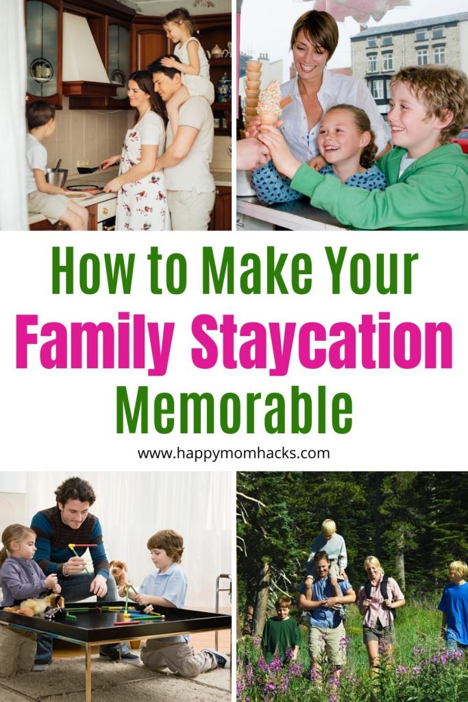 40 Staycation Ideas for Families at home. Fun Things to do with kids in your own home town to make great family memories. Plus fun indoor and outdoor activities to do at home too. #staycation #thingstodowithkids #familystaycation #staycationideas #summerbreak #springbreak #winterbreak