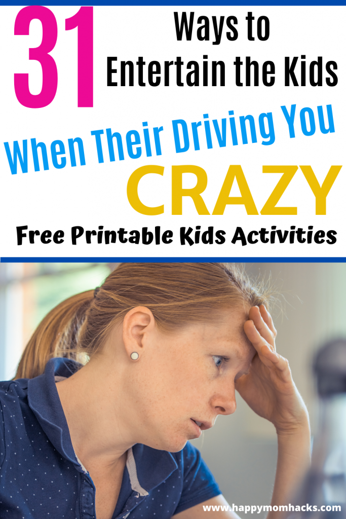 Easy Indoor Games & Activities to Entertain the Kids at home on School Breaks. Free printable 31 Day Calendar of Fun Kids Activities for each day. No more stress about what to do with the kids. #kidsactivities #kidsgames #indoorgames #games #entertainthekids
