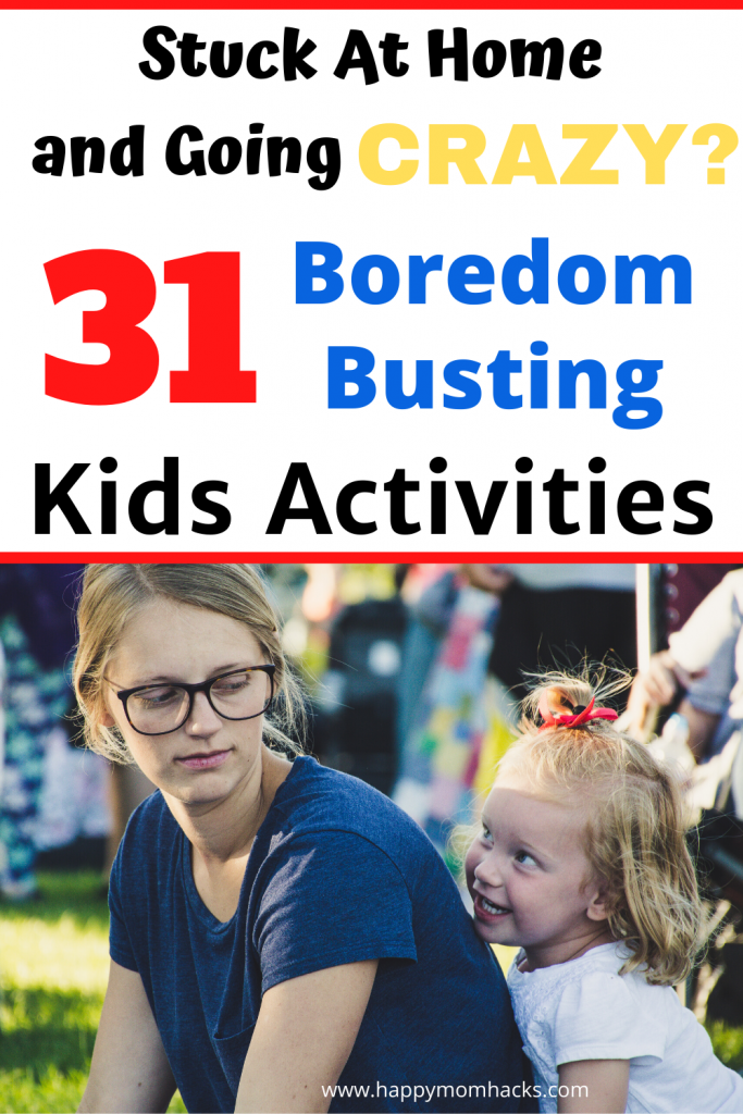 Easy Indoor Kids Activities with free printable 31 Day Calendar of Fun. Boredom busting DIY activities and games to entertain the kids at home. #indoorgames #indoorkidsactivities #kidsactivities #entertainkidsathome #games #kids