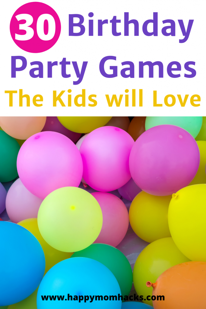 Best Party Games for Kid's Birthdays. 30 Fun Indoor and Outdoor games the kids will love. Simple to put together and will keep them entertained the whole party! #partygames #birthdayparty #partygameideas #birthdaypartygames #kids #kidsactivities