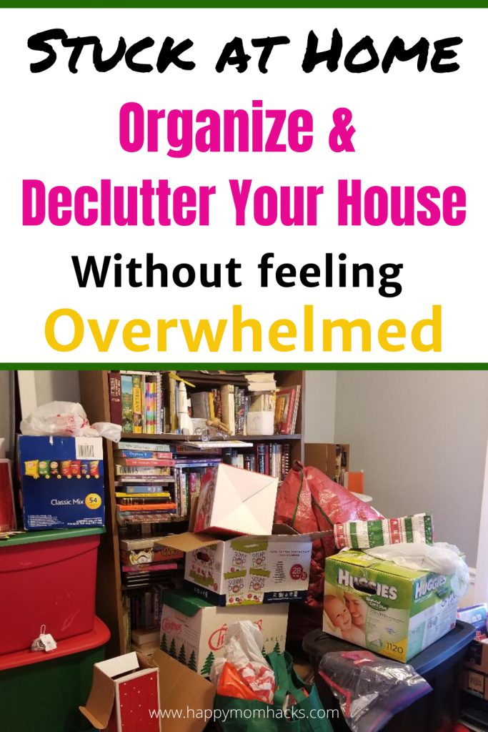Easily Organize & Declutter your Home without feeling overwhelmed. Simple tips and tricks to organized your bedroom, kitchen, closets and more. Use your time off work to get organized! #organization #organized #declutter #decluttering #householdhacks