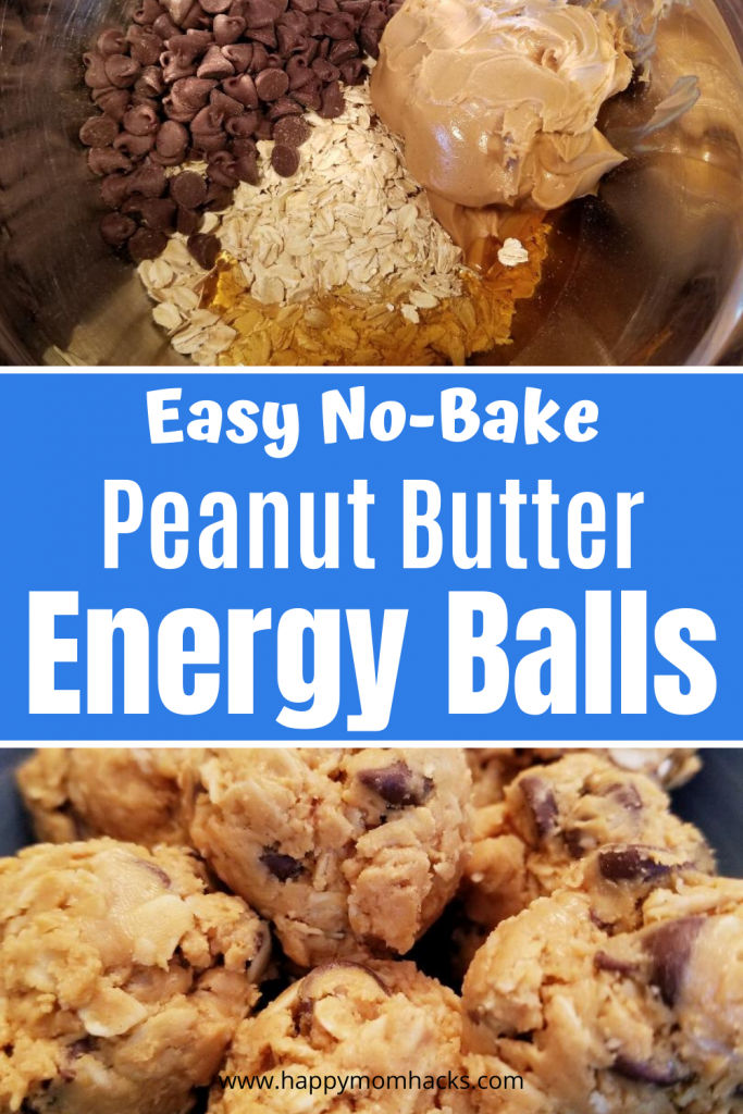 Yummy No Bake Peanut Butter Energy Balls. Only 4 ingredients to make this healthy snack for kids and adults. Quick and easy to make perfect for after school snacks or late night snacks. You won't believe how good they taste! #energyballs #peanutbutterenergyballs #4ingredients #nobake #healthysnack #snackforkids #kidssnack