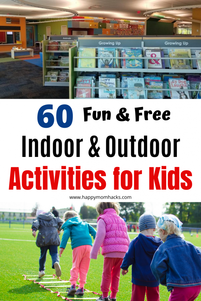 Free Indoor & Outdoor Activities for Kids. Perfect for Summer, rainy days and after school entertainment for kids screen-free. Great Staycation ideas too! #activitiesforkids #kidsactivities #staycation #games #indoorgames #outdoorgames