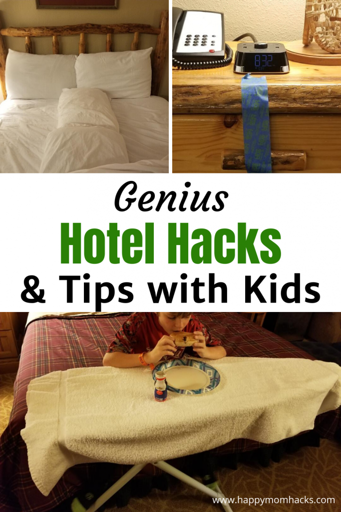 Best Hotel Hacks and Tips for Kids in your hotel room. Travel Hacks to make family vacation fun & stress-free. You'll be amazed at how these simple tips & tricks can save you money, keep your kids busy, safe and make the room comfortable for the whole family. #travelhacks #hotelhacks #familyvacation #travelwithkids #momhacks