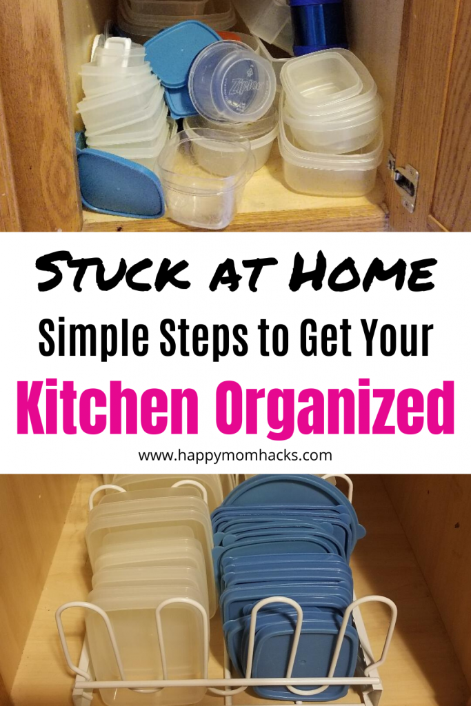 Simple Kitchen Organization Ideas & Hacks to do when your stuck at home. Easy ways to organize your cabinets, pantry and drawers. Find out how easy it is to do! #kitchenorganization #kitchenorganizationideas #declutter #organization