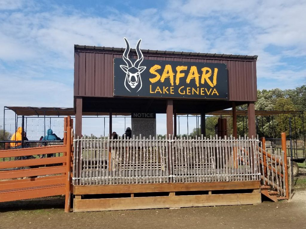 Safari Lake Genva - Ride the safari wagon to view over 50 animals on this conservation ranch. A top thing to do in Lake Geneva with Kids.