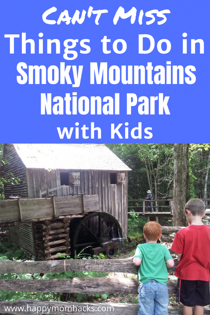 Best Things to do in Great Smoky Mountains National Park with Kids. This Tennessee National Park is great for family hikes, seeing historical structures, driving Cades Cove, and enjoying nature with the kids. Get Tips on how to plan your Smoky Mountains Vacation from where to stay to what to eat and see. A Complete Family Guide. #smokymountains #nationalparks #Tennessee #familyvactaion #hiking #hikingwithkids #travelwithkids