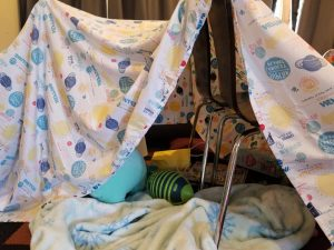 Let Kids create a DIY tents when stuck indoors on rainy days. A fun kids activity to keep them busy all day.