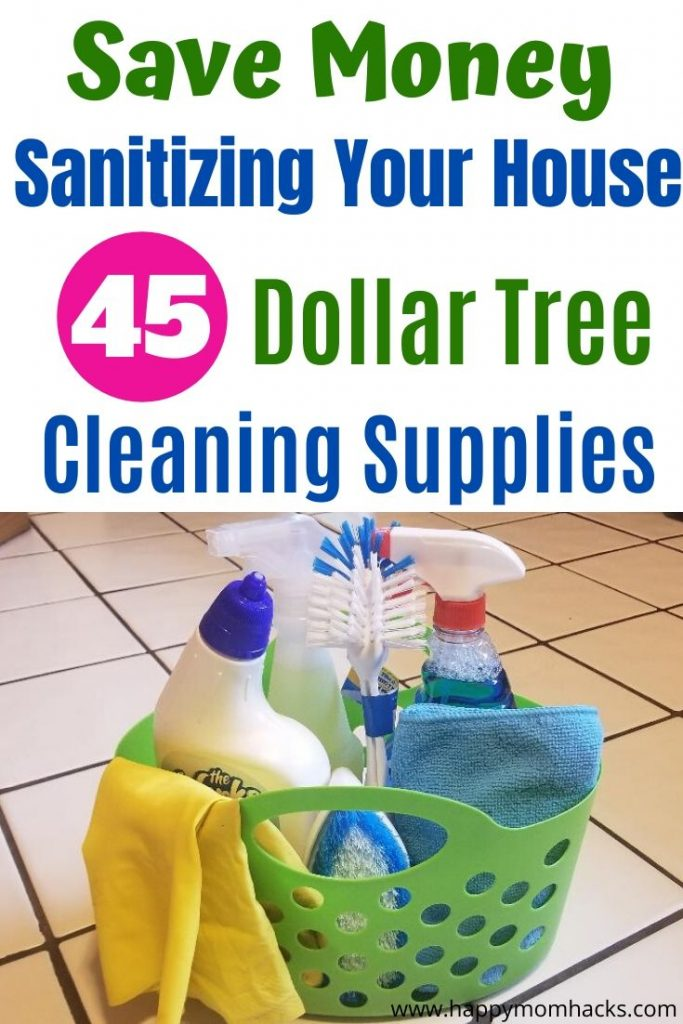 Best Cleaning Supplies to clean your house from Dollar Tree. Save money cleaning supplies that work great and cost less then at the grocery store. Find out which cleaning supplies you need for your home.  #cleaningtips #cleaningsupplies #householdhacks #dollartree