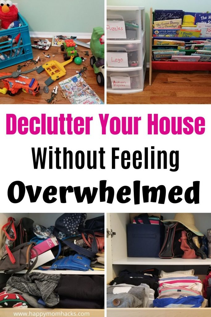 Stuck at Home - Declutter your home. Easy Decluttering Ideas to keep you from feeling overwhelmed. Organize your whole house room by room.  #organization #declutter #declutteryourhome #organizingyourhome