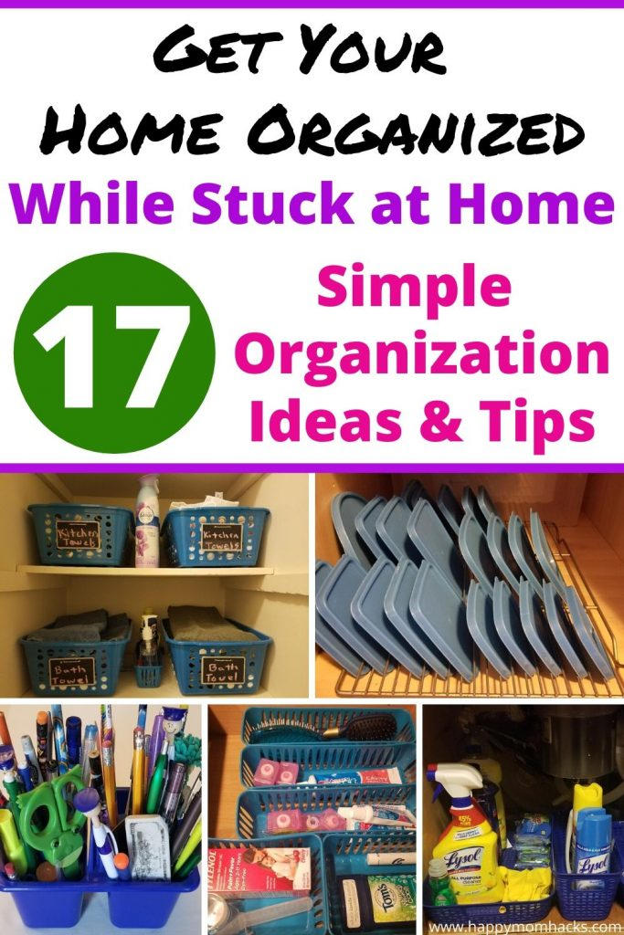 Simple Organization Ideas for Home with Dollar Tree Products. Declutter your whole house with Easy DIY Tips & Tricks to use and not get overwhelmed. #dollatree #organization #organizationtips #homeorganization #declutter