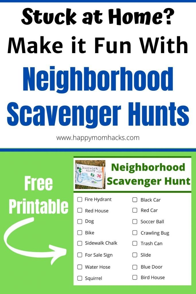Neighborhood Scavenger Hunt for Kids. Free Printable for kids walks around your local neighborhood. Fun ideas for kids activities when your stuck at home. Make your neighborhood walks exciting again! #neighborhoodwalks #scavengerhunt #scavengerhuntideas #neighborhoodscavengerhunt