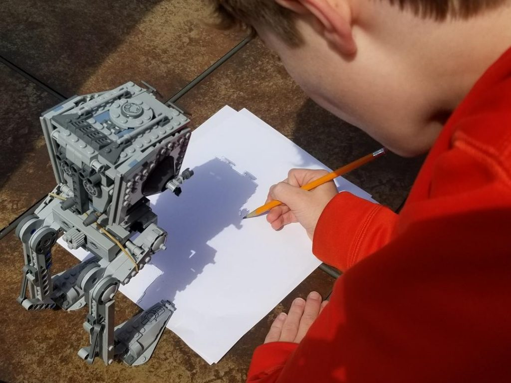 Shadow Art Drawing with Lego Figures. Fun outdoor kids activity. #kidsactivities #activityforkids #shadowartforkids