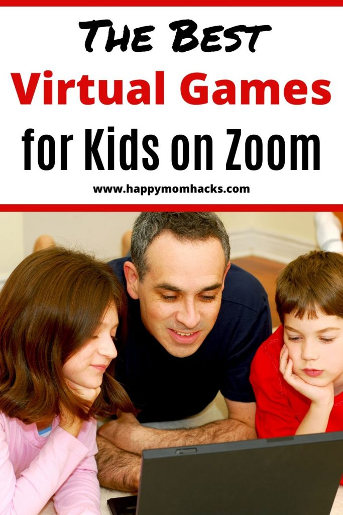 15 Virtual Game Nights Ideas for Kids to play on Zoom. Stuck at home still play with friends and family by playing virtual games on Zoom and Facetime. Free games your whole family will love. #zoom #virtualgames #kidsgames #zoomgames