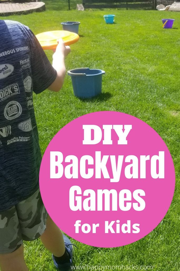 Cheap DIY Backyard Games for Kids with Dollar Tree Items. Entertain the kids this summer with cool kids activities they'll love to play. Plus you save money by buying everything from Dollar Tree.  #backyardgames #gamesforkids #kidsgames #outdoorgames