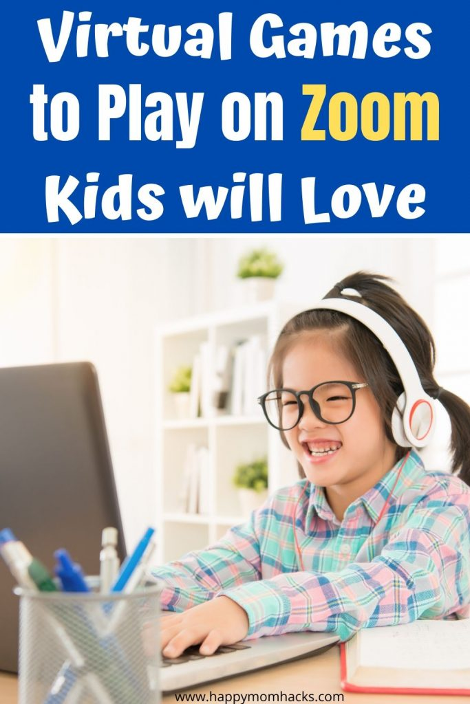 Kids Virtual Games to Play on Zoom they'll love. Great for Virtual Birthday parties or to visit with friends and family you miss seeing. 15 Different games to enjoy playing on Zoom and Facetime for a fun night! #zoomgames #virtualgames #kidsgames #kidsactivities #virtualbirthdayparties