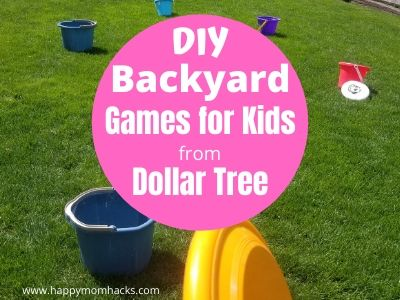 Fun Backyard Games & Activities for Kids. Keep kids busy all summer long with these DIY Outdoor Games with items from Dollar Tree. Cheap games they'll love to play. #diygames #gamesforkids #backyardgames #kidsgames #outdoorgames