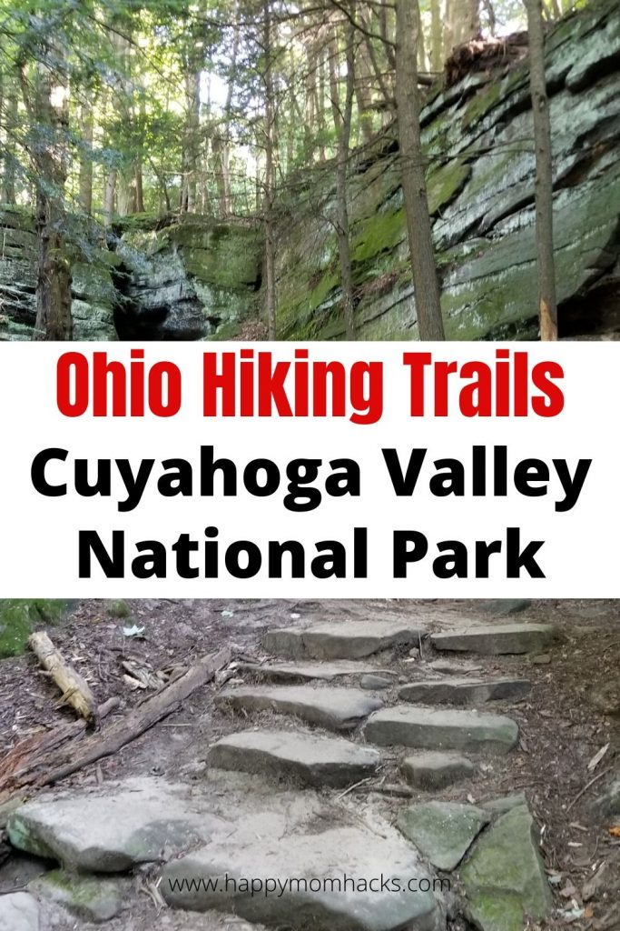 Ohio Hiking Trails in Cuyahoga Valley National Park with Kids. The best hiking trail to see Brandywine Waterfall and more. A fun day out or place to camp with the kids.  #hikingwithkids #cuyahogavalleynationalpark #nationalpark #ohiohikingtrails