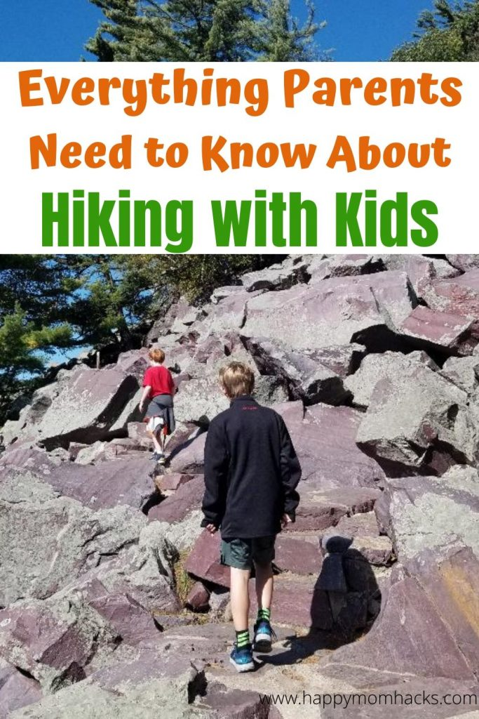 Best Hiking with Kids tips and activities. How to make a family day of hiking fun and stress free. Plus best gear to help with your hike. Be prepared for hikes on local trails and National Parks. #hiking #hikingtips #hikingwithkids #nationalparks