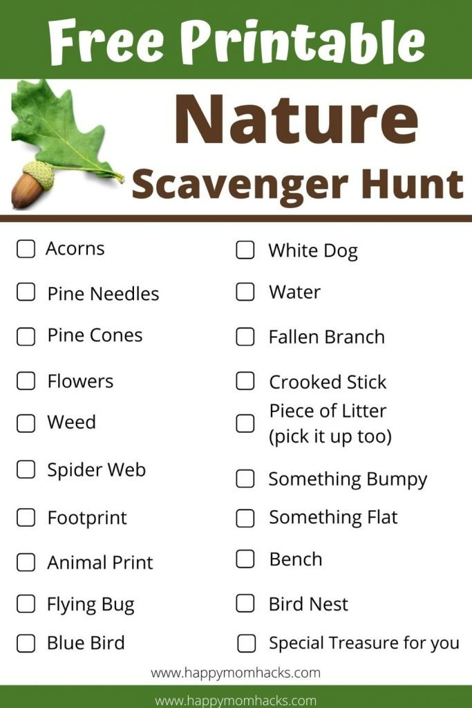 Free Printable Nature Scavenger Hunt for Kids. Keep kids interested in hiking at National Parks, State Parks and local trails with this fun scavenger hunt. It will keep kids entertained the whole time. Print it out for a fun family day out. #scavengerhunt #naturescavengerhunt #nationalparks #hikingwithkids #kidsactivities