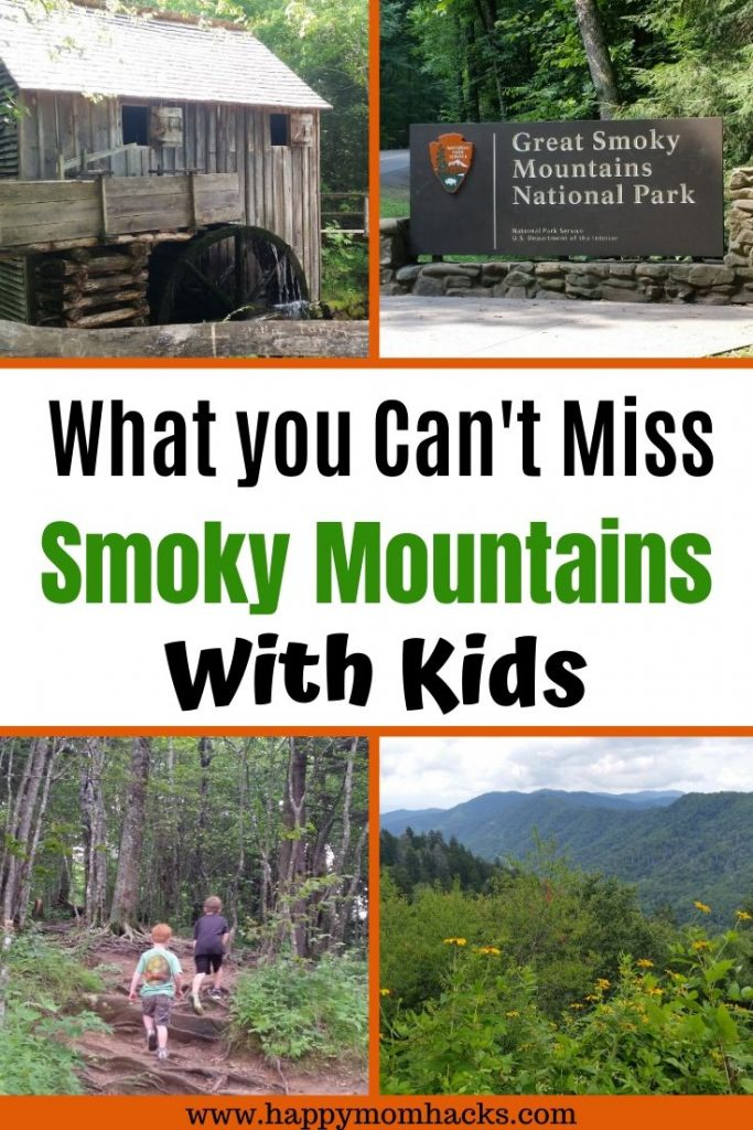 Best Things to Do in Smoky Mountains National Park with Kids. Fun family hiking trails, Clingman's Dome, driving Cades Cove and more. Plus where to stay and what to do in Gatlinburg and Pigeon Forge Tennessee. Your complete visitors guide to the Smoky Mountains. #smokymountains #hikingwithkids #smokymountainsnationalparks #nationalparks #tennessee
