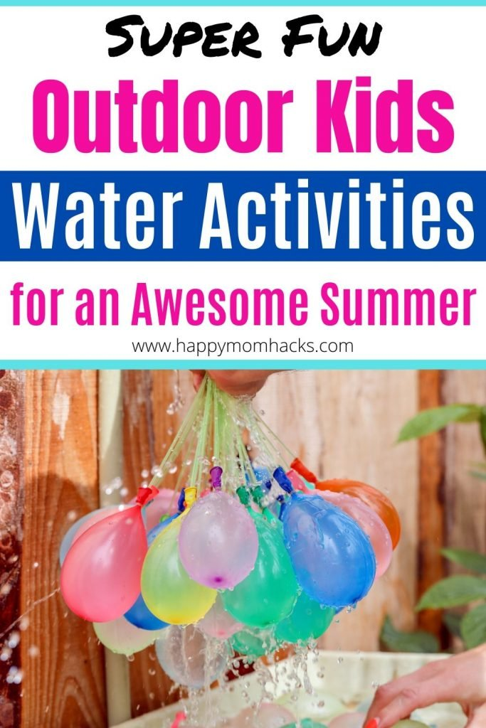Fun Outdoor Water Activities for Kids in your backyard. Stuck at home this summer? Stay cool with these awesome water toys they'll love so much they won't miss the pool. #watertoys #outdooractivitiesforkids #wateractivitiesforkids #outdoorgames #kidsactivities #summer