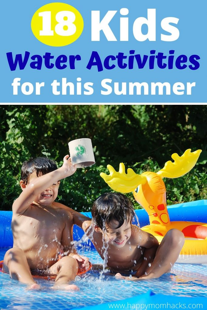 Best Outdoor Water Activities for Kids this Summer. Fun backyard water toys to entertain the kids at home when pools are closed. Toddlers to Elementary age kids will love these water games & activities. #watertoys #wateractivities #summeractivities #kidsactivities