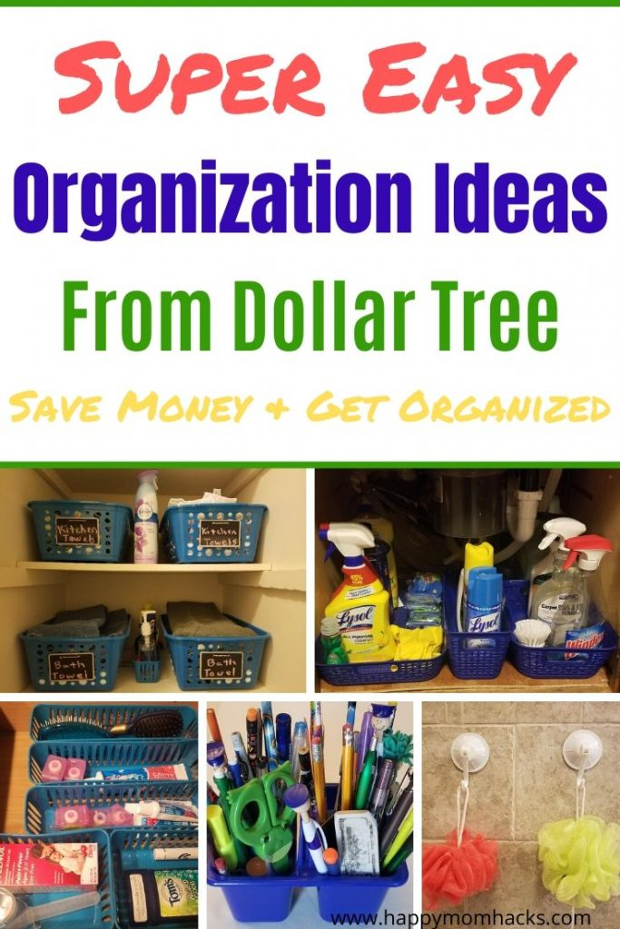17 Organization Ideas for Home with Dollar Store Items. Cool Decluttering and Organization Hacks you won't believe you didn't know before. Bonus save money by using items from the Dolllar Store. Get Started! #organization #homeorganization #dollarstore #dollartree #organizationideas
