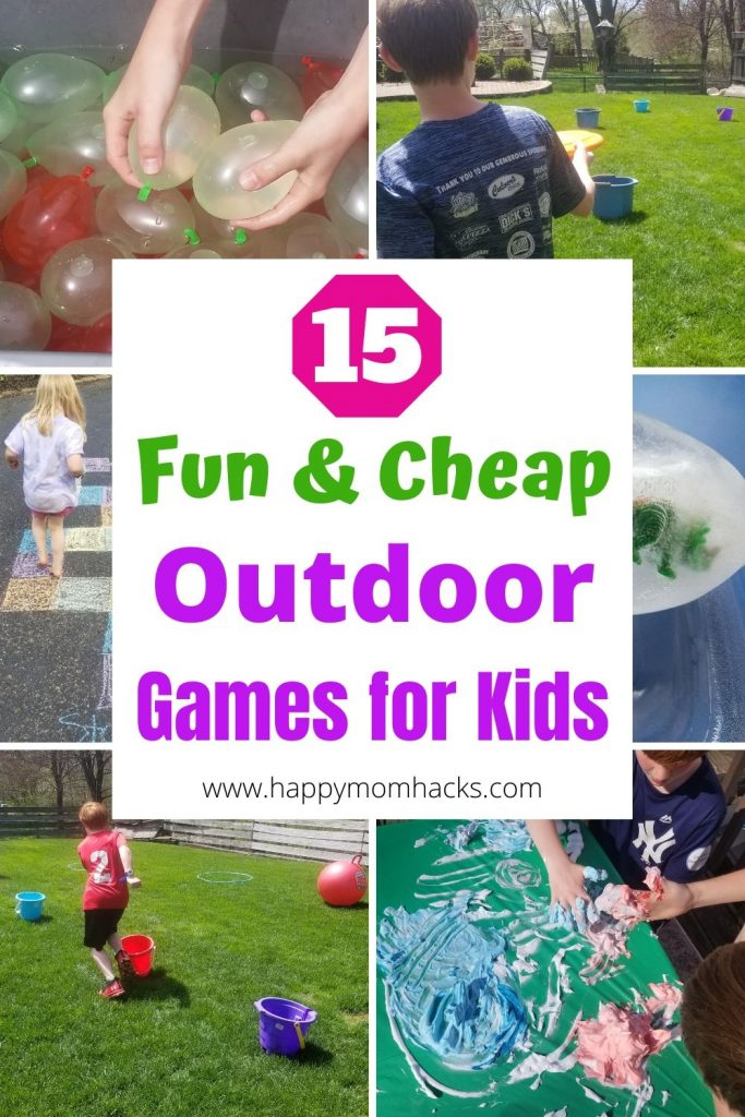 Best Summer Outdoor Games for Kids. Keep kids active this summer with kids activities from Dollar Tree. Cheap games they'll love to play over and over again. #outdoorgames #kidsactivities #backyardgames #activitiesforkids