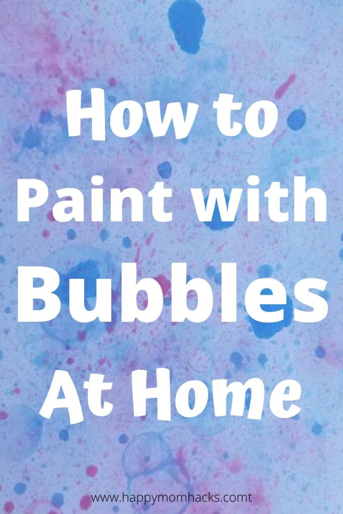 How to Paint with Bubbles for Kids. Easy art and kids craft to do at home. Make beautiful creations with bubbles, food dye or paint.  Find out how simple and fun bubble art can be at home! #kidscraft #kidsart #bubbleart #paintingwithbubbles