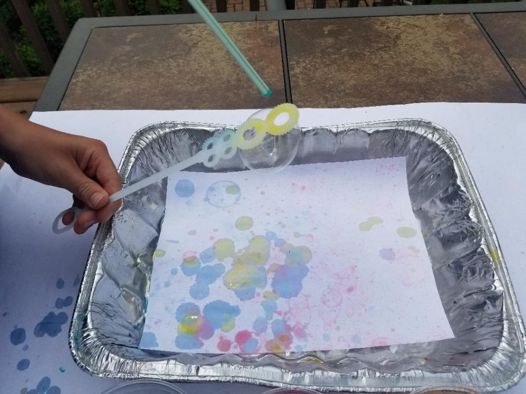 How to paint with bubbles at home.