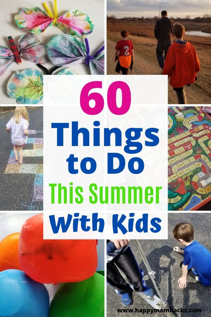 Free Summer Activities for Kids. Fun Things to do to keep kids entertained all summer long. Find family activities and things for kids to do on their own. #kidsactivities #activitiesforkids #thingstodowithkids #kids #summer #kidgames