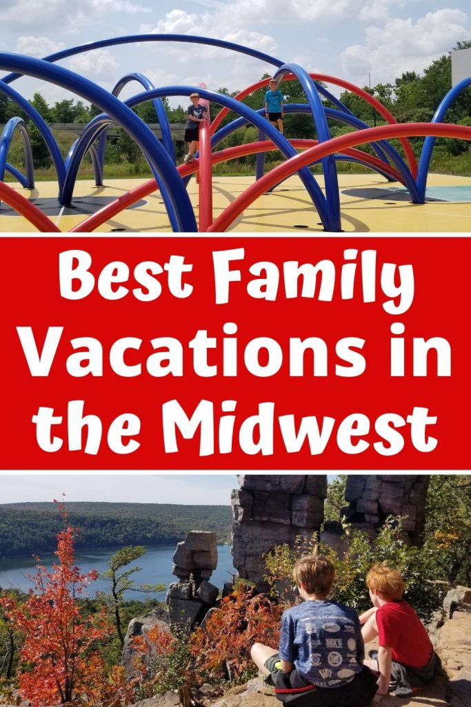 Best Family Vacation Destinations in the Midwest. Fun places to visit with kids from Beaches to National Parks all in a short drive from Chicago. Plan a great weekend getaway or full family vacation this summer. #familyvacation #travelwithkids #midwest #beaches #nationalparks