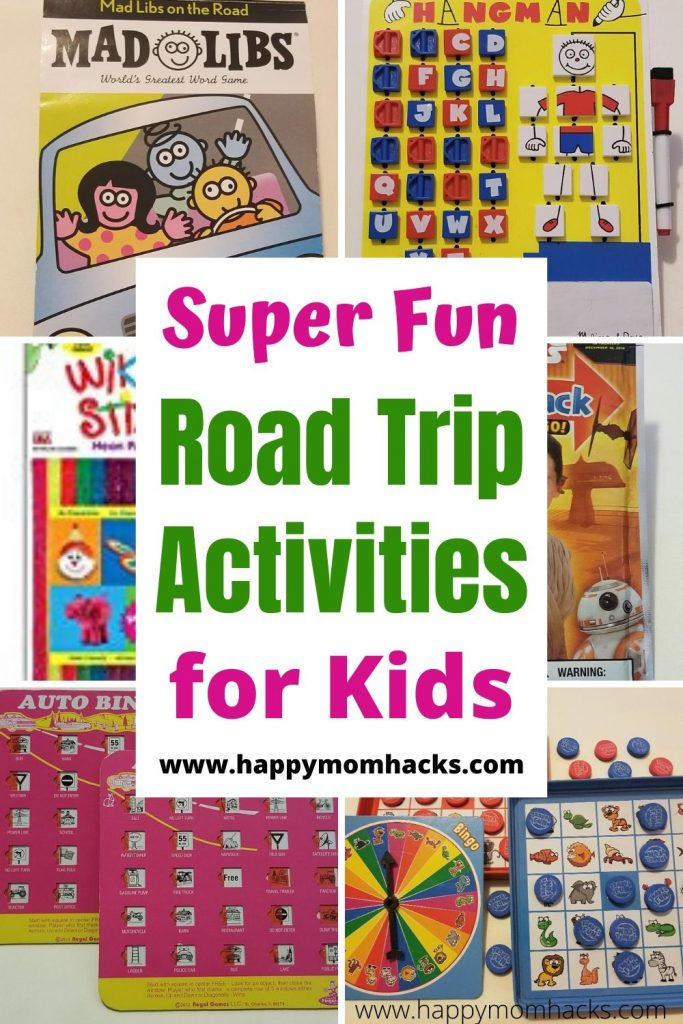 Best Road Trip Activities & Games for Kids perfect for long car rides. Easy travel hacks to keep kids entertained and happy while you travel on family vacation. Make traveling with kids stress free. #travelhacks #travelgames #travelactivities #roadtrip