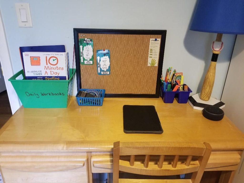 How to Set up kids desks for Homeschool & e-learning at home.
