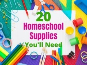Must Have Homeschool Supplies. Get Organized with this complete school supply list of everything you need to get started Homeschooling your kids. #homeschool #schoolsupplies #organization #homeschoollist
