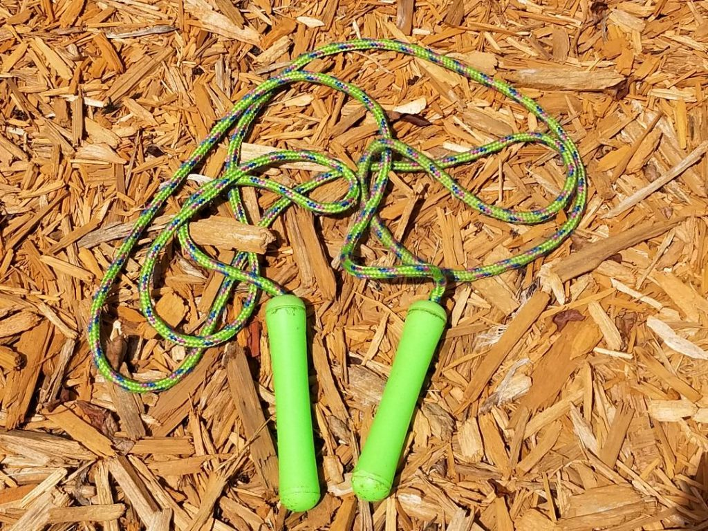 Jump ropes area fun way to entertain kids outdoors. Plus it's great exercise.