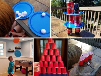 Minute to Win It Party Games to play on Zoom for kids Birthday Parties. #birthdayparties #zoomgames #partygames #minutetowinit