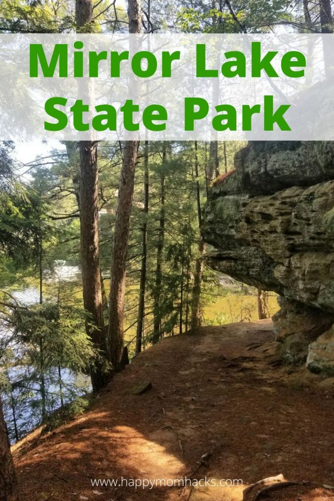 Guide to Mirror Lake State Park by Wisconsin Dells. A fun place to hike, fish, swim, kayak and more. Plus beautiful campgrounds in the woods. Only minutes from the Dells. Find out everything you need to know before you go. #mirrorlakestatepark #wisconsindells #statepark #
