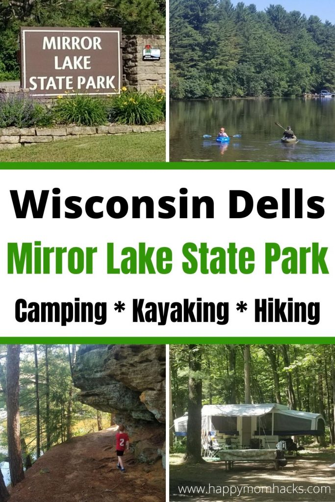 Mirror Lake State Park Wisconsin. Ultimate Guide to this Wisconsin Dells area state park. Fun Hiking trails, kayaking, campgrounds and fishing. Plus the beach area and what to do with kids. Everything you need to know before you go. #mirrorlakestatepark #wisconsindells #WIstatepark #hiking #campgrounds