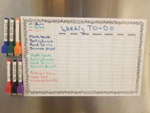 Weekly Chores for Kids to help you get organized at home. An awesom magnetic board to keep track of all the kids chores.