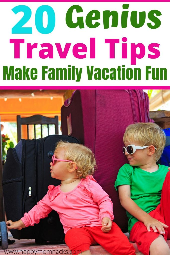 Ultimate Travel Tips for Kids & planning a family vacation. Car trips, airplane rides, hotel tips and more. Everything to do before you go on vacation, packing for a family and how to  entertain the kids while you travel. The compete family trip planner. Be ready for an awesome family vacation.  #traveltips #familyvacation #travelwithkids #traveltipsforkids #vacationplanner