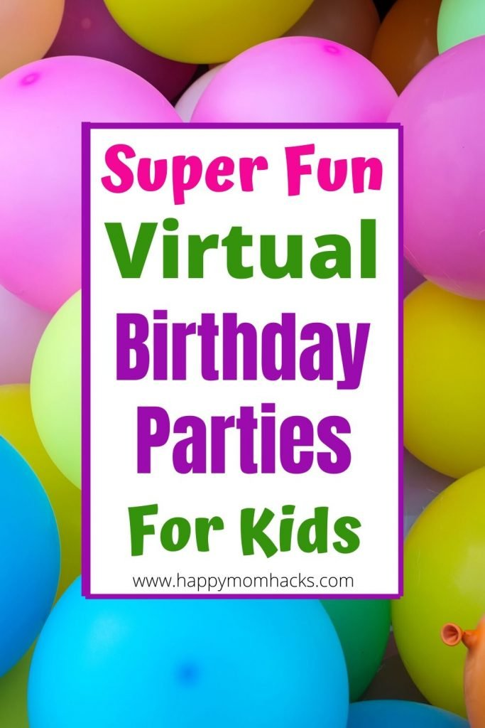 12 Different Virtual Birthday Party Ideas for Kids. Fun zoom games and themes to make your child's birthday special even if your social distancing. Find out how to throw an unforgettable virtual birthday party your kids will love. #virtualbirthday #birthdaypartyforkids #kidsbirthday #zoomparty #zoomgames